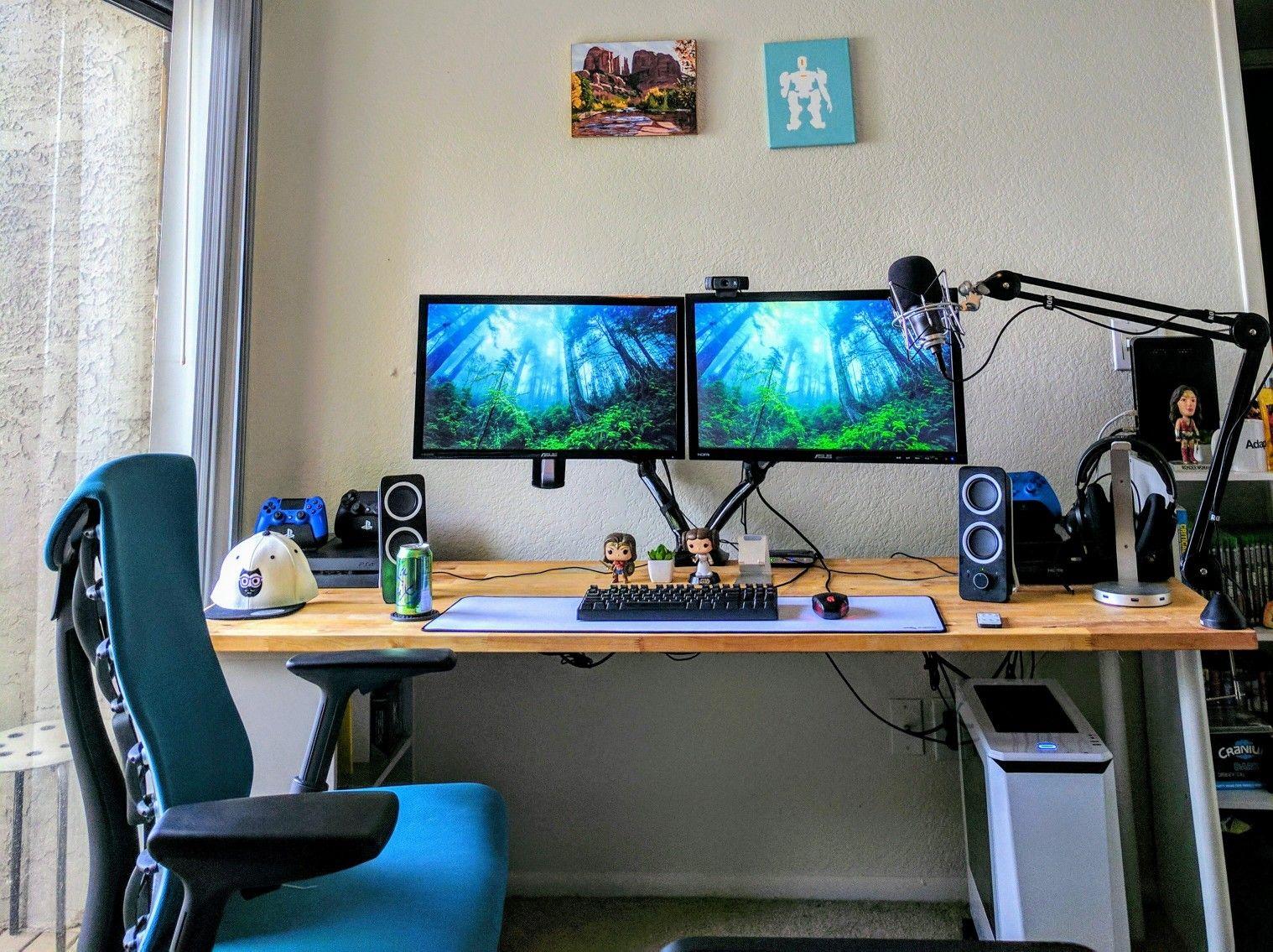 Setup bàn làm việc